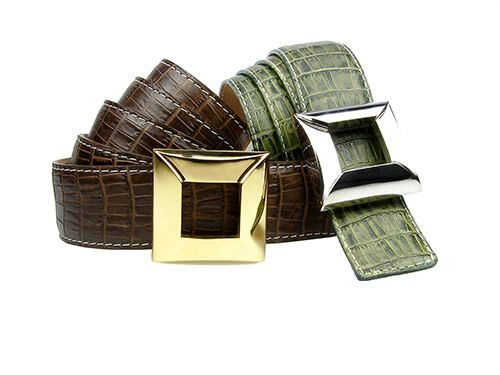 Belt with leather crocodile finish   Schroeder Joialliers 1877 fc41cae4d53